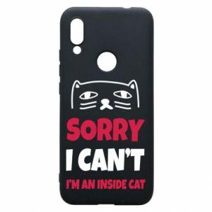 Etui na Xiaomi Redmi 7 Sorry, i can't i'm an inside cat