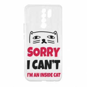 Etui na Xiaomi Redmi 9 Sorry, i can't i'm an inside cat