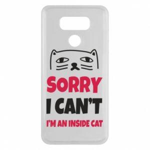 Etui na LG G6 Sorry, i can't i'm an inside cat