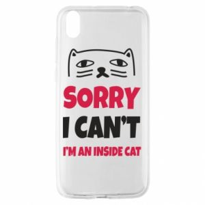 Etui na Huawei Y5 2019 Sorry, i can't i'm an inside cat