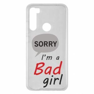 Etui na Xiaomi Redmi Note 8 Sorry, i'm a bad girl
