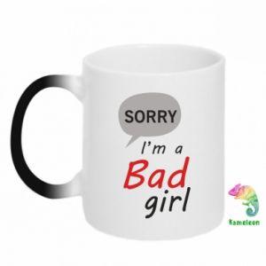 Kubek-magiczny Sorry, i'm a bad girl