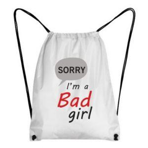 Plecak-worek Sorry, i'm a bad girl
