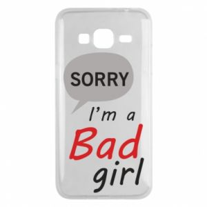 Phone case for Samsung J3 2016 Sorry, i'm a bad girl