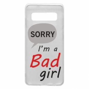 Etui na Samsung S10 Sorry, i'm a bad girl