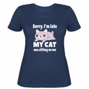 Damska koszulka Sorry, i'm late