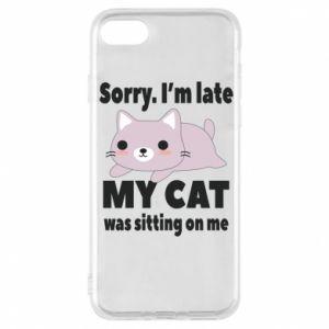 Etui na iPhone 8 Sorry, i'm late