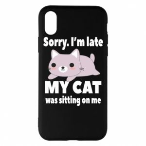 Phone case for iPhone X/Xs Sorry, i'm late