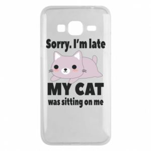 Phone case for Samsung J3 2016 Sorry, i'm late
