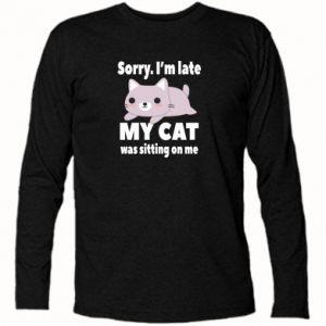 Koszulka z długim rękawem Sorry, i'm late