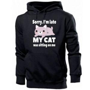 Men's hoodie Sorry, i'm late