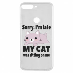 Phone case for Huawei Y7 Prime 2018 Sorry, i'm late
