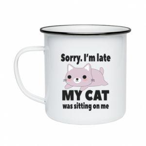 Enameled mug Sorry, i'm late