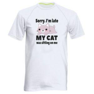 Men's sports t-shirt Sorry, i'm late