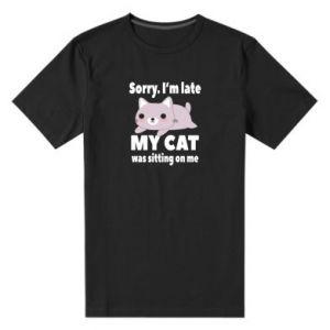 Męska premium koszulka Sorry, i'm late