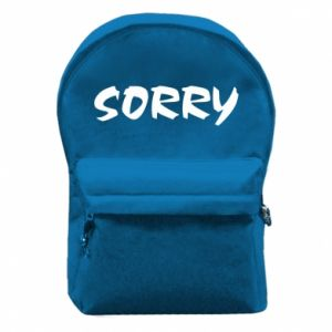 Plecak z przednią kieszenią Sorry