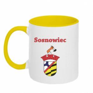 Kubek dwukolorowy Sosnowiec to moje miasto - PrintSalon