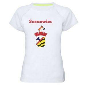 Damska koszulka sportowa Sosnowiec to moje miasto - PrintSalon