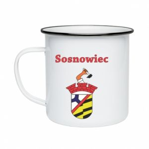 Enameled mug Sosnowiec this is my city