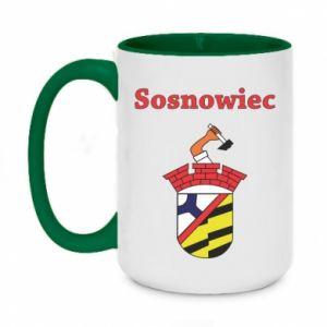Kubek dwukolorowy 450ml Sosnowiec to moje miasto