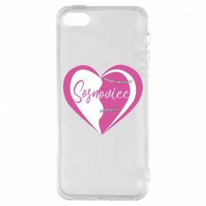 iPhone 5/5S/SE Case Sosnowiec. My city is the best