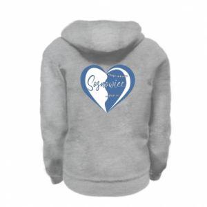 Kid's zipped hoodie % print% Sosnowiec. My city is the best