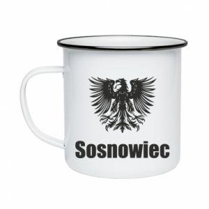 Kubek emaliowany Sosnowiec