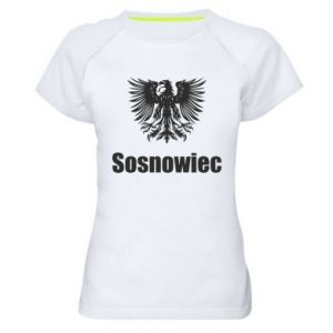 Damska koszulka sportowa Sosnowiec - PrintSalon