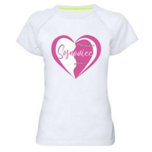 Women's sports t-shirt Sosnowiec. My city is the best
