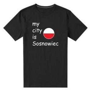 Męska premium koszulka My city is Sosnowiec