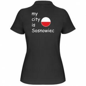 Damska koszulka polo My city is Sosnowiec
