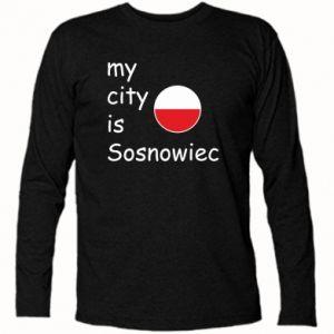 Koszulka z długim rękawem My city is Sosnowiec