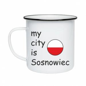 Kubek emaliowane My city is Sosnowiec
