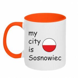 Kubek dwukolorowy My city is Sosnowiec