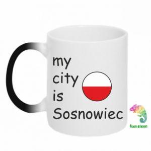 Chameleon mugs My city is Sosnowiec