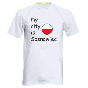Męska koszulka sportowa My city is Sosnowiec