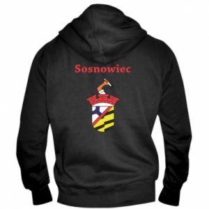 Męska bluza z kapturem na zamek Sosnowiec to moje miasto - PrintSalon
