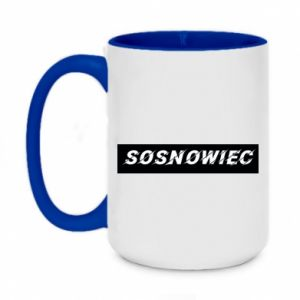 Two-toned mug 450ml Sosnowiec