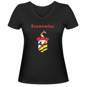Women's V-neck t-shirt Sosnowiec this is my city