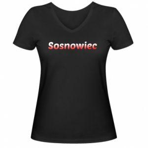 Damska koszulka V-neck Sosnowiec