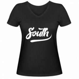 Damska koszulka V-neck South