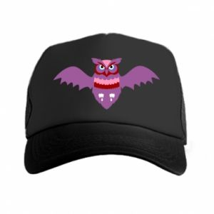Trucker hat Owl bright color - PrintSalon