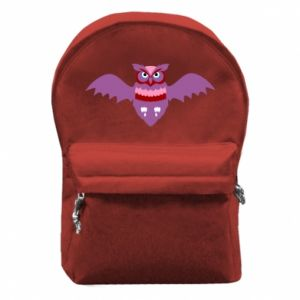 Backpack with front pocket Owl bright color
