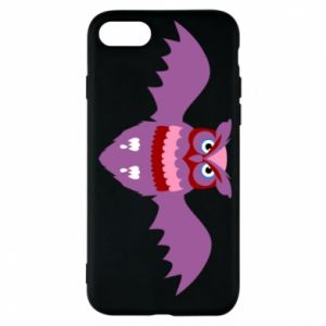 Phone case for iPhone 7 Owl bright color - PrintSalon