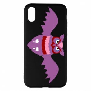 Phone case for iPhone X/Xs Owl bright color - PrintSalon