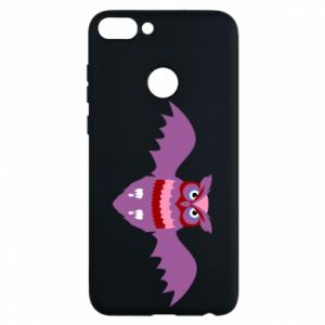 Phone case for Huawei P Smart Owl bright color - PrintSalon