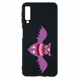 Phone case for Samsung A7 2018 Owl bright color - PrintSalon