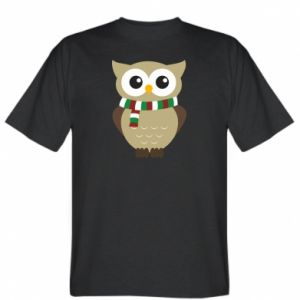 T-shirt Owl in a scarf