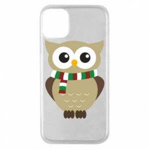 Phone case for iPhone 11 Pro Owl in a scarf
