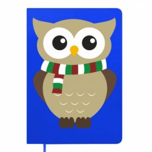Notepad Owl in a scarf